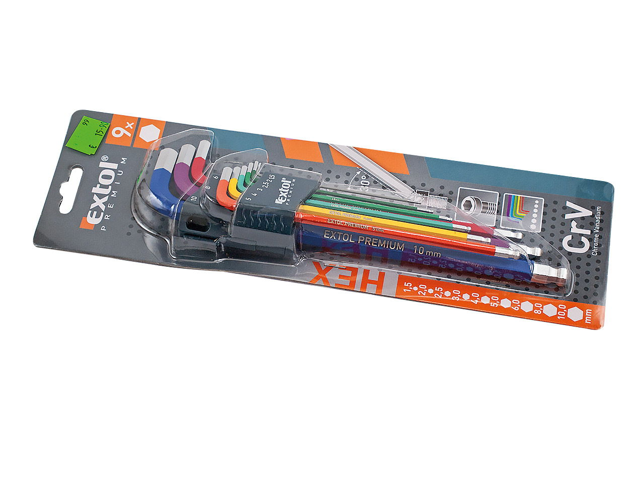 Sada imbusových kľúčov farebných 9 dielna