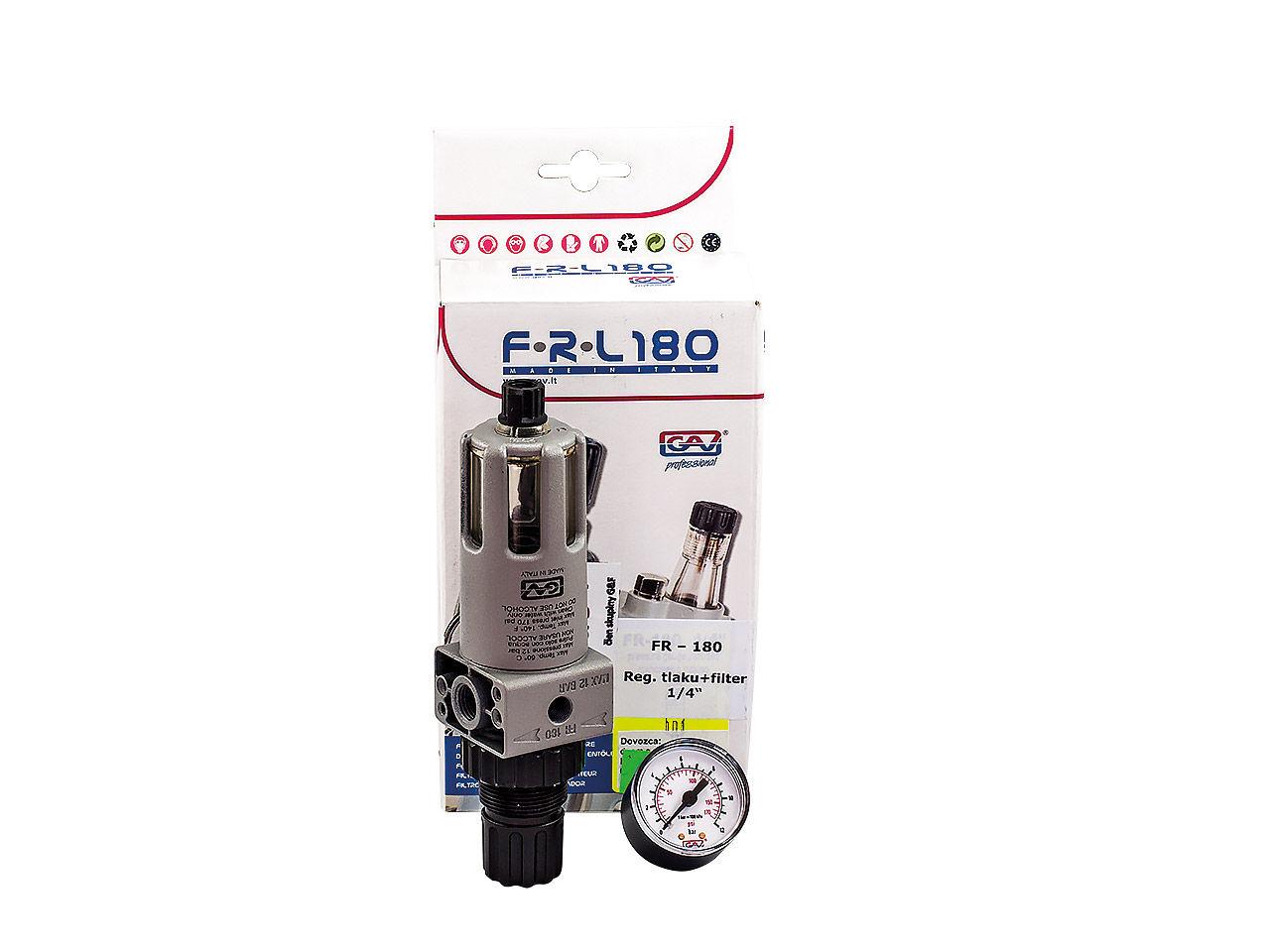 "Regulátor tlaku + filter 1/4"""