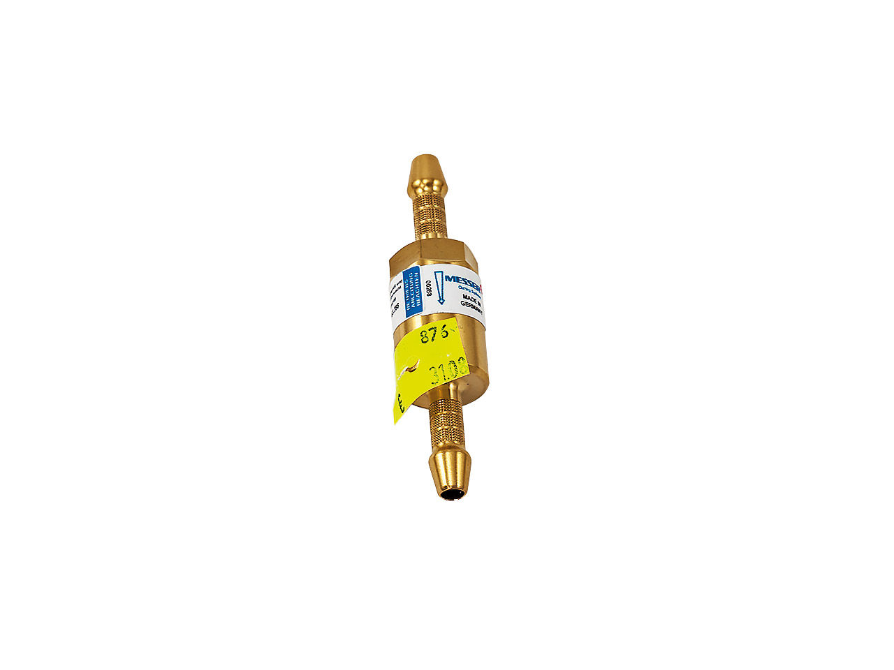 Poistka proti spät. šľahu plynu TT91 6,3 mm